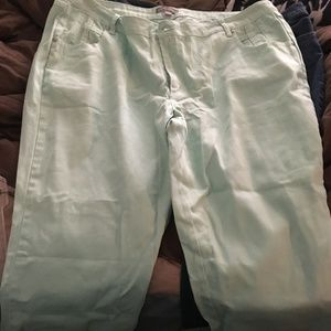 Light Green Capris